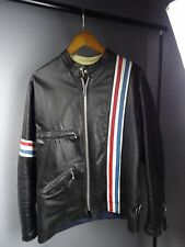 Rare Vintage TT UK 1960's Cafe Racer Easy Rider Leather Motorcycle Jacket 42 R