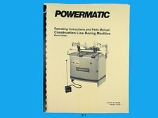 Powermatic Model CBM21 Line Boring Machine Instruction & Parts Manual *311