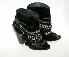 """WOMENS ASH """"IVY"""" ANKLE BOOT. SZ 38 1/2. OPEN TOE"""