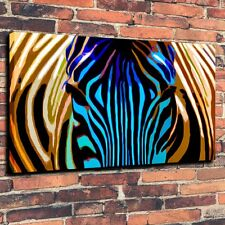 Art Print Abstract Painting on Canvas Color Zebra Wall Decorations (Unframed)