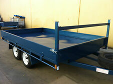 Table Top Flat bed Trailer 3.5X2150 DECK 2T+drop sides also 14 12 16ft availabl