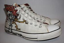 Converse All-Star Grateful Dead White Skull High Top Sneakers Men's Size 10