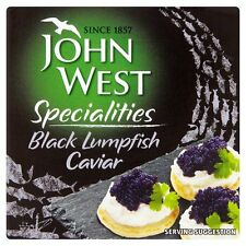 JOHN WEST BLACK LUMPFISH CAVIAR...50G JAR