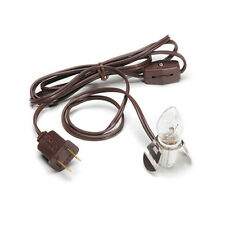 Darice Accessory Clip Light Christmas Village - 1ct Clear Bulb Brown Cord #6406