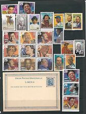 B420 USA  Liberia black history americana birthday present famous people stamp c