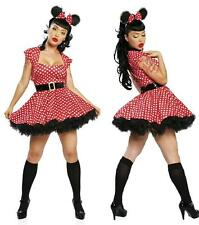 Donna Pin Up Mouse 4 PC Costume M/L 8-10 UK Costume Hen Night