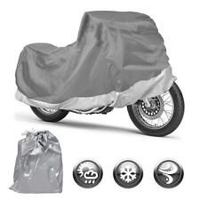 Outdoor Motorcycle Cover All Weather Water Resistant & UV Protection(M)
