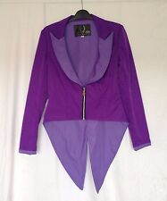 Cyberdog Womens Suit Jacket Purple size M