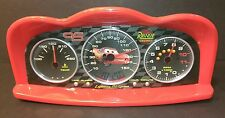 Lightning McQueen cars alarm clock Disney Pixar digital projector gauges dash