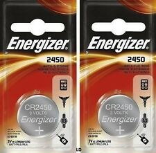 Energizer ECR2450 CR2450 (2 piece) BR2450 Lithium 3V Battery New AuthorizedSellr