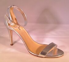 J Crew Mirror Metallic High Heel Sandals 8 - Metallic Silver