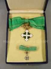 ITALIEN: St.Mauritius und St.Lazarus Orden, Ordenskreuz für Damen, im Etui, 4758