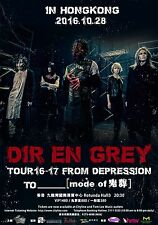 "DIR EN GREY ""TOUR 16-17 FROM DEPRESSION TO"" 2016 HONG KONG CONCERT POSTER- Metal"