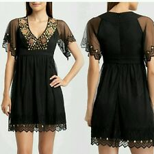 New Guess by Marciano BLACK Trina Embellished Dress size XS