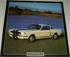 1966 Ford  Shelby Mustang  GT350 car print  (white)