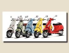 VESPA Vintage Pop Art HUGE QUALITY CANVAS PRINT Retro Scooter Poster Banner