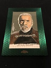 Topps Star Wars Sketch Card 1/1 Dooku Chrome Perspective 2015 Force Jedi Art Sp