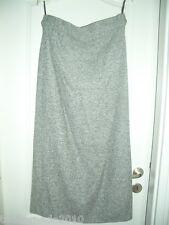 CASHMERE LANDHAUS ESCADA LUXUS Kostüm WINTER ROCK skirt grau 36/38 Shabby edel