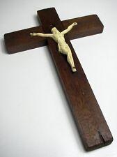 Kreuz Holz Kruzifix Jesus Figur Kunststoff Holzkreuz Eichenholz Religion Sammler