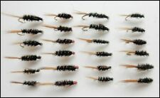 24 Diawl Bach Nymph Trout Fishing Flies Mixed Colour and Sizes TOP SELLERS