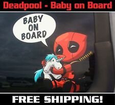 Deadpool Baby On Board Decal/Sticker