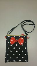 Disney Minnie Mouse  purse with bow, messenger purse cross body bag handmade