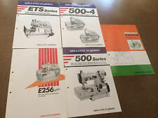 lot of color sales brochures WILLCOX & GIBBS sewing machines -mid 1980's