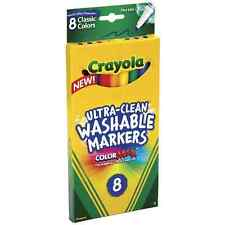 Crayola Ultra-Clean Washable Markers, Color Max, Fine Line Classic Colors 8 Ea