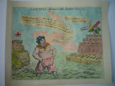 "JAMES GILLRAY. "" JOHN BULL OFFERING LITTLE BONEY FAIR PLAY."""