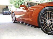 2005-2013 Chevrolet C6 Corvette Gloss Black ZR1 Side Skirts For Base C6