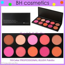 NEW BH Cosmetics 10-Color PROFESSIONAL Blush Palette w/Case FREE SHIPPING Powder