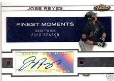 JOSE REYES 2009 TOPPS FINEST CERTIFIED AUTOGRAPH