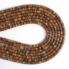 """0542 4mm Multi-color picasso jasper heishi loose beads 16"""""""