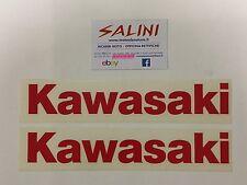 Adesivo coppia scritta Kawasaki rossa - Sticker