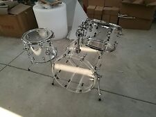 Brand New Clear 3-pc Acrylic Drum Set with Tube Lugs more colors