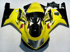 Yellow Fairing Bodywork Injection Kits For 2001-2003 2002 Suzuki GSXR 600 750 K1