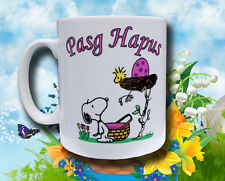 Pasg Hapus Mug - Happy Easter! but snoopy's lost his egg!