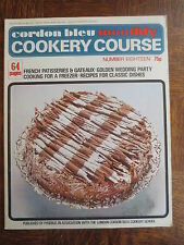 Vintage CORDON BLEU Monthly Cookery Course Magazine 18 French Patisserie Gateaux