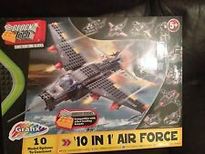 GRAFIX CONSTRUCTION BLOCKS BLOCK TECH 10 IN 1  AIR FORCE SET BRAND NEW SEALED