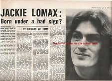 JACKIE LOMAX (APPLE BEATLES) BAD SIGN 1970 UK ARTICLE / clipping