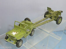 DINKY TOYS MODEL No.6I5 US JEEP & 105 HOWITZER