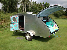 Step By Step Build a retro Teardrop Camper Caravan Trailer plans 1200 pages cd