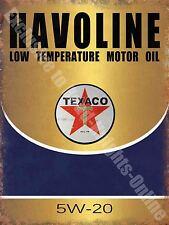 Vintage Garage, Texaco Havoline Motor Oil, Old Advert 48, Medium Metal/Tin Sign