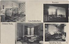 Indiana In Postcard Old GREENFIELD Hanock County HOSPITAL 4View INTERIOR
