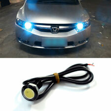 1x Car Motorcycle Ice Blue Waterproof Hawkeye COB LED DRL Backup Reversing Light