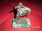 AWESOME FREDERIC REMINGTON BRONZE cowboy horse -SCULPTURE marbel base