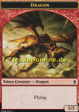 Token - Dragon (Spielstein - Drache) Battle for Zendikar Magic