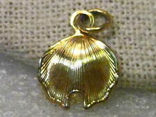 "Vintage Gold Tone Leaf Pendant or Charm (American Basswood?), 3/4"" long"