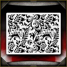 Floral Pattern Airbrush Stencil Template Paint Airsick