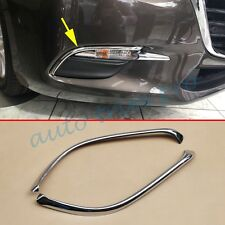 2X ABS Chrome Front Fog Light Eyebrow Cover Trim For Mazda 3 BN 2017 Accessories